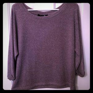 Large brown  glitzy sweater